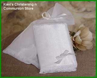 """Baby Girls Christening Or Baptism Gift Keepsake Bible 3"""" x 4.5"""