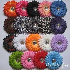lot of daisy flowers baby hair bow gerber headband