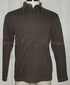 Alfani Mens Cotton Polo Long Sleeved Shirt NWT New S 636206676468