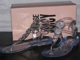 Juicy Couture HERMOSA T Jeweled Jelly Sandals Shoes CLR