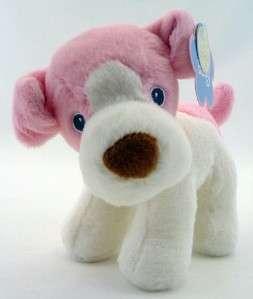 Aurora Baby Plush Pink Dog Squeak Stuffed Animal NEW