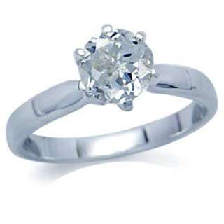1ct. Natural White Topaz 925 Sterling Silver Solitaire Ring Size/Sz 8