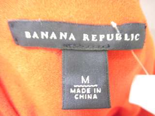 BANANA REPUBLIC Red Sleeveless Shirt Top Sz M
