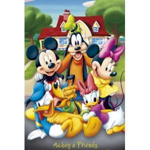 Mickey Minnie Mouse Goofy Donald Duck Daisy Poster Walt