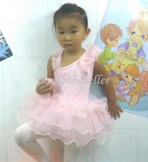 Girl New Party Leotard Ballet Dance Tutu Dress SZ3 9Y