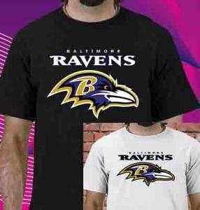 Baltimore Ravens NFL Football Logo Men / Women T shirt Size S M L XL