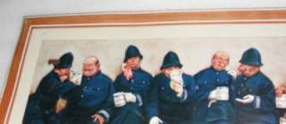 SIGN KEYSTONE COPS NINE PINTS OF THE LAW VINTAGE LAWSON WOOD