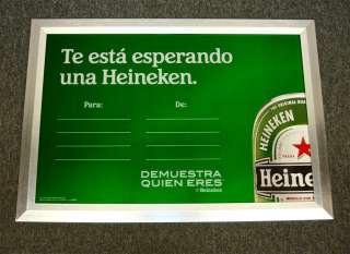 Collectible Large Heineken Beer Logo Bar Mirror