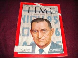 Time Magazine, Stockbroker James Thomson, Aug. 19, 1966