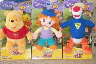 MY FRIENDS TIGGER & POOH BEANZ set of 3 w/ DARBY, TIGGER & POOH