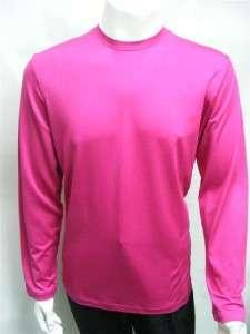 NWT Michael Kors Silk Crew Neck L/S Shirt Fuchsia XL