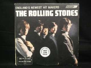 HEAR Rolling Stones LONDON PROMO White Label MONO 1st LP Original w