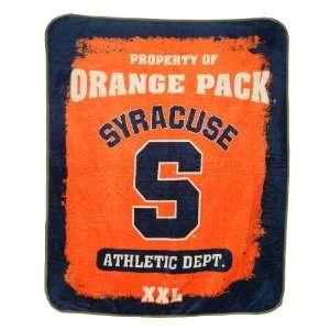 Orange Super Soft Plush Blanket / Fleece Couch Throw   Orange & Blue