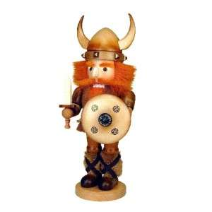 Ulbricht Viking Nutcracker with Bright Red Hair and Beard Holiday