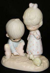 PRECIOUS MOMENTS 1979 THOU ART MINE FIGURINE / BOX