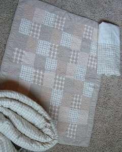 Boy Baby Nursery Tan Crib Bedding Quilt Bumper BedSkirt