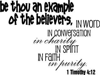 Be An Example Of Believers Christian Faith Vinyl Wall Decal Stickers