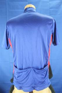Bellwether Shiny Blue & Red Cycling Bike Jersey Size XL