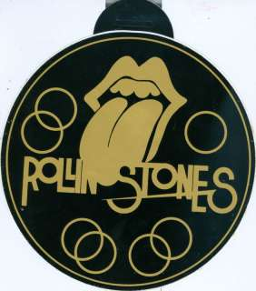 THE ROLLING STONES   Big Car Sticker (1977) OLD & RARE