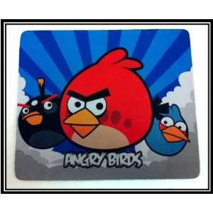 Red Angry Bird with Blue and Black Birds Mouse Pad