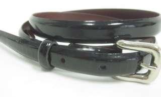 CALVIN KLEIN Black Patent Leather Thin Belt Sz M