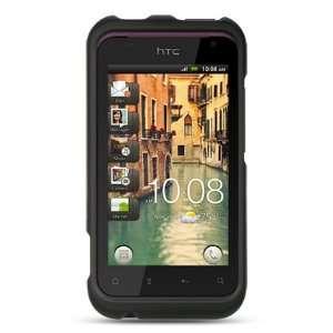 VMG HTC Rhyme Black Hard Case Cover 2 ITEM COMBO Black Premium Hard 2