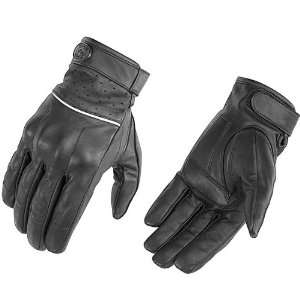 River Road Firestone Leather Motorcycle Gloves Black XL