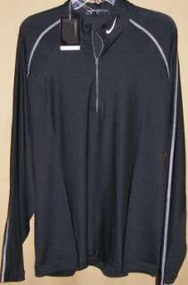 Nike Golf Dri Fit long sleeve 1/2 zip method mock Lg(010)