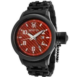 0563 RS8 Russian Spider Red Carbon Fiber Black IP Case Watch