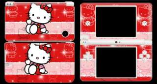 Hello Kitty Decal Protector Skin Sticker Cover for NDSi DSi XL LL