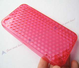 Diamond Clear TPU Rubber Gel Skin Case Cover for iPhone 4 4G