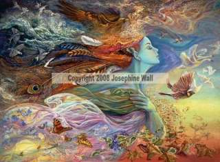 Spirit of Flight Fairy Ceramic Art Tile Josephine Wall