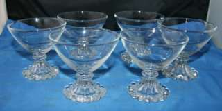 Vintage Boopie Crystal Fire King Anchor Hocking Glasses