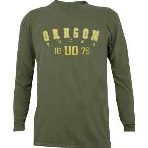 Oregon Ducks Pigment Dye Long Sleeve T Shirt Sports