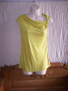 NWT Womens New York & Co Lime Green Tank Top XSmall