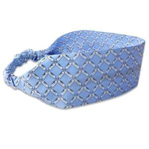 Silk Headband by Little Barrel   Blue Wine Bottles Beauty