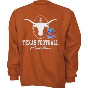 Texas Longhorns Orange BCS Mack Brown Signature Crewneck Sweatshirt
