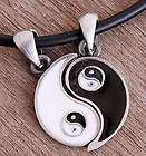 Best Friends pewter pendant w 2 Black rubber Necklaces items in Siam