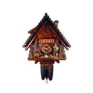 Cuckoo Clock Black Forest House, Hunter, Bear