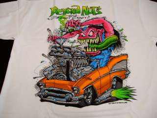 BIG DADDY ROTH RAT FINK HOT ROD RAT ROD 57 CHEVY ROCKABILLY T SHIRT