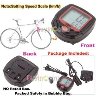 Bike Bicycle LCD Cycle Computer Odometer Speedometer NR