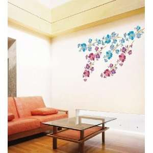 DECO FLOWER ADHESIVE WALL DECOR MURAL STICKER PL 58138