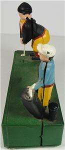 VINTAGE CAST IRON BANK MONEY GOLF BIRDIE PUTT HAND PAINTED TAIWAN