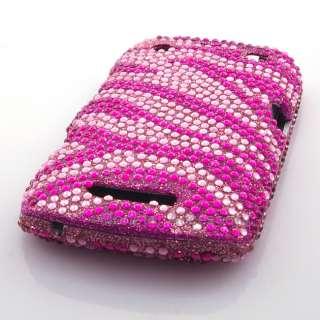 Zebra Diamond Bling Hard Case Cover For Blackberry Curve 9360 Apollo
