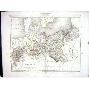 Archer College Antique Map C1875 Prussia Brandenburg