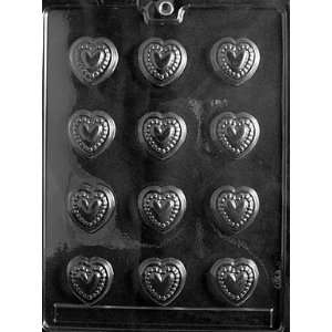 BEADED HEARTS Valentine Candy Mold chocolate