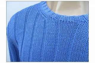 Lauren Polo Mens Knit Powder Blue Pima Cotton Sweater $150 Large LG L