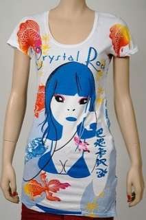 New Crystal Rock Blue Angel S/S Womens T Shirt Multi M
