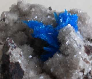 AMAZING   BLUE PENTAGONITE CRYSTAL CLUSTER   FROM POONA, INDIA