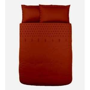 Ikea Tanja Brodyr Red Orange Full/queen 3pc Duvet Cover